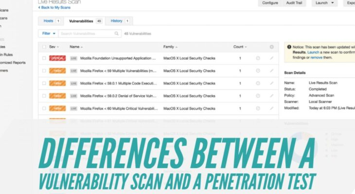 Differences Between a Vulnerability Scan and a Penetration Test